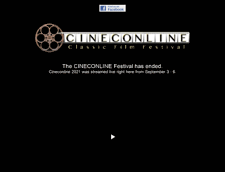 cinecon.org screenshot