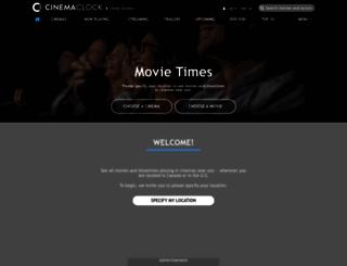 cinemaclock.com screenshot