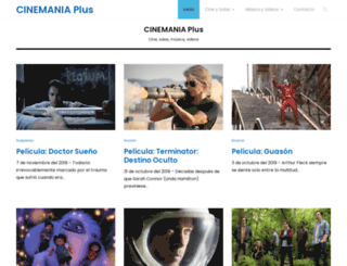 cinemania.co.cr screenshot