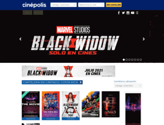 cinepolis.co.cr screenshot