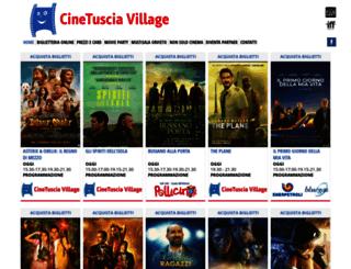 cinetusciavillage.it screenshot