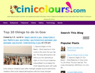 cinicolours.com screenshot