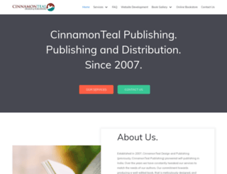 cinnamonteal.in screenshot
