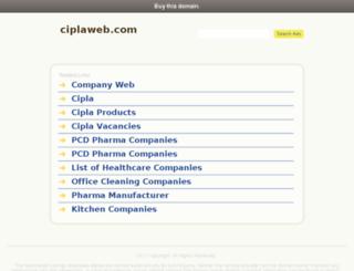 ciplaweb.com screenshot