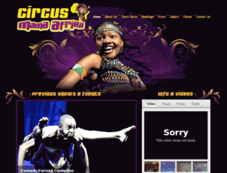 circus-mama-africa.com screenshot