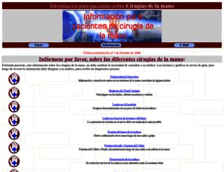 cirugiamano.net screenshot