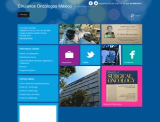 cirujanosoncologos.com screenshot