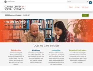 ciser.cornell.edu screenshot