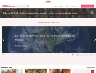 citation-du-jour.fr screenshot