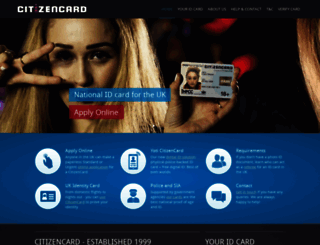 citizencard.com screenshot