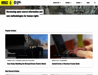 citizenevidence.org screenshot