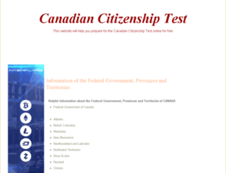 citizenshiptest-canada.com screenshot