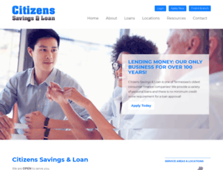 citizensloan.com screenshot
