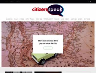 citizenspeak.org screenshot