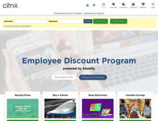 citrix.employeediscounts.co screenshot