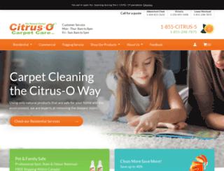 citrusocarpetcleaning.com screenshot