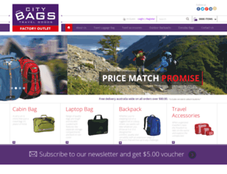 citybag.com.au screenshot