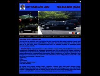 citycabsandlimo.com screenshot