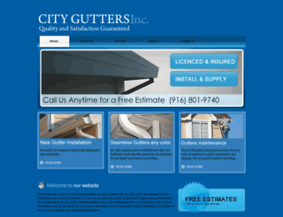 cityguttersinc.com screenshot