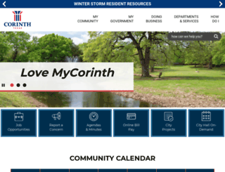 cityofcorinth.com screenshot