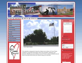cityofcranetexas.com screenshot