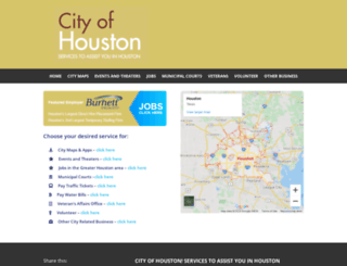 cityofhouston.com screenshot