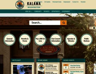 cityofkalama.com screenshot