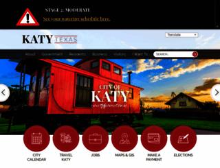 cityofkaty.com screenshot