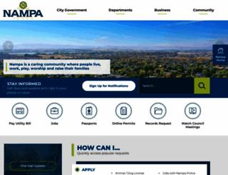 cityofnampa.us screenshot