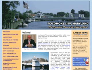 cityofpocomokemd.gov screenshot