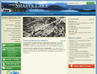 cityofshastalake.net screenshot