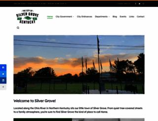 cityofsilvergroveky.com screenshot