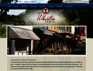 cityofwharton.com screenshot
