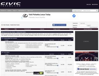 civicforumz.com screenshot