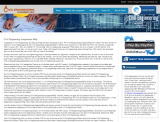 civilengineeringassignmenthelp.com screenshot