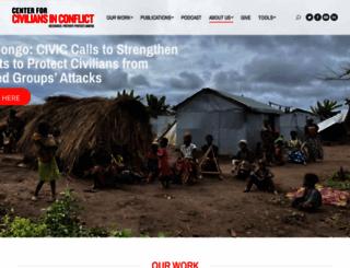 civiliansinconflict.org screenshot