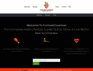 civilizedcavemancooking.com screenshot