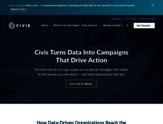 civisanalytics.com screenshot