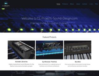 cl-projects-sound-design.com screenshot