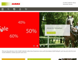 claas-shop.com screenshot
