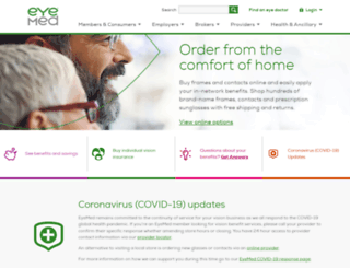 claims.eyemedvisioncare.com screenshot