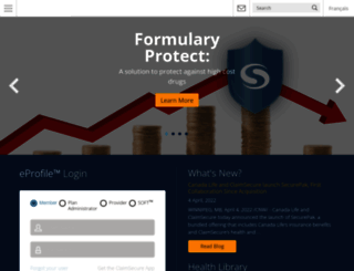 claimsecure.com screenshot
