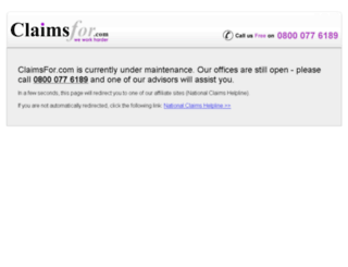 claimsfor.com screenshot