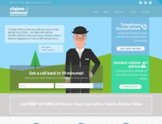 claimsnational.co.uk screenshot