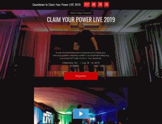claimyourpower.com screenshot