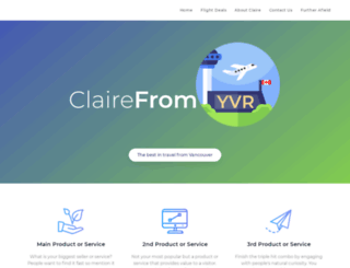 clairefromyvr.com screenshot