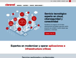 claranet.es screenshot