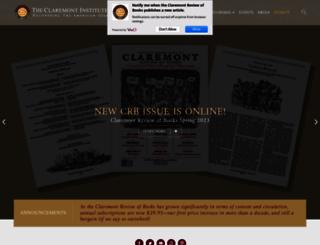 claremont.org screenshot