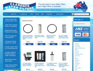 clarencewaterfilters.com.au screenshot