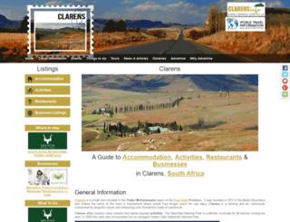 clarens-info.co.za screenshot